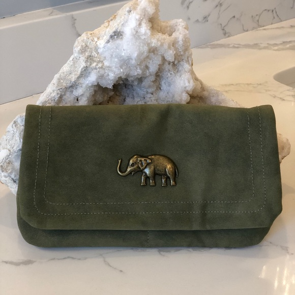 Handbags - Olive green clutch/crossbody